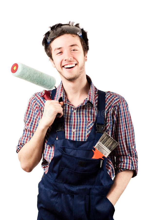 Ritratto di sorridere dell'operaio immagine stock libera da diritti