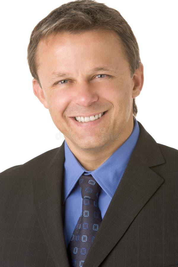 Ritratto di sorridere dell'uomo d'affari immagine stock libera da diritti