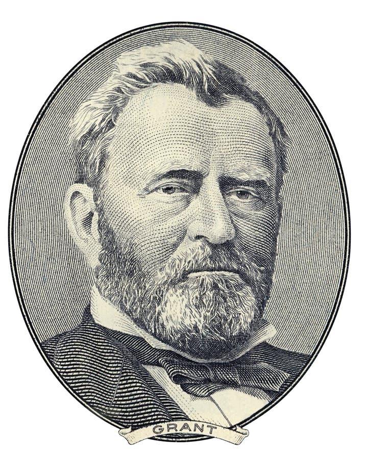Ritratto di Ulysses S. Grant immagine stock libera da diritti