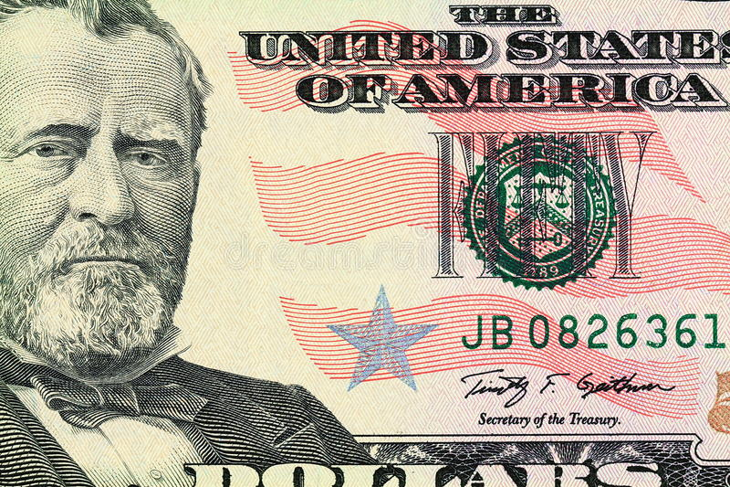 Ritratto di Ulysses S. Grant immagini stock