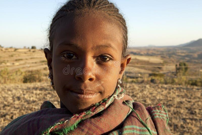 Ritratto di un bambino, Etiopia immagini stock libere da diritti