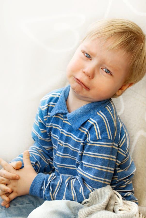 Ritratto di un bambino gridante immagine stock libera da diritti