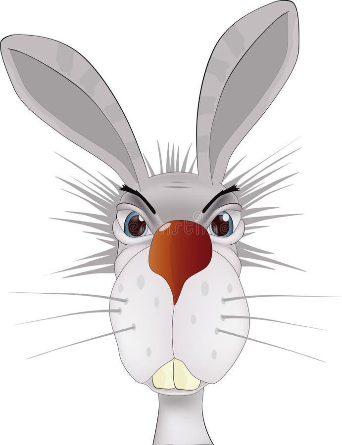 Ritratto di un coniglio illustrazione di stock