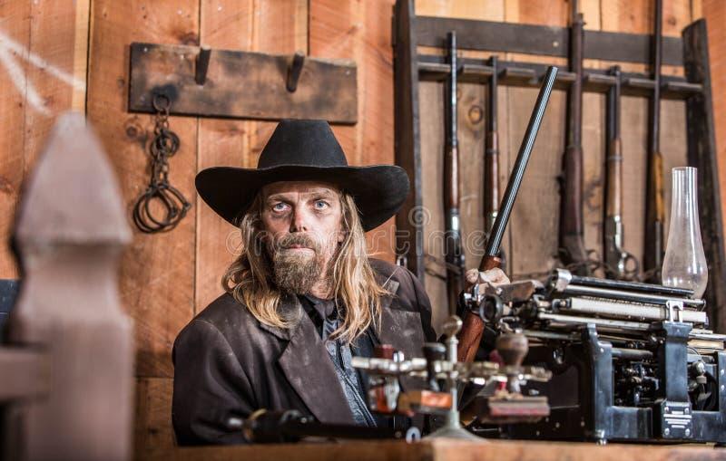 Ritratto di un cowboy fotografie stock