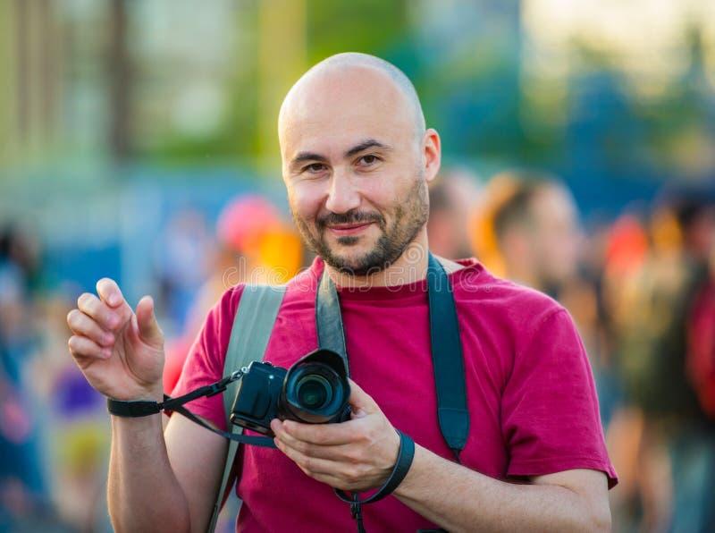 Ritratto di un fotografo immagini stock