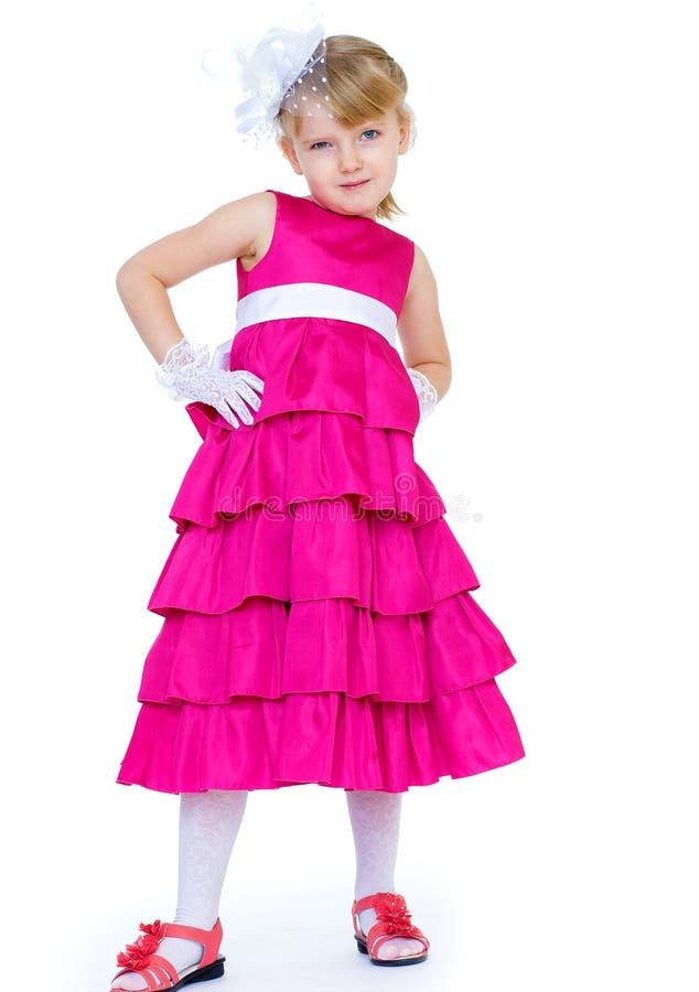 Ritratto di un gioco felice della bambina fotografie stock libere da diritti