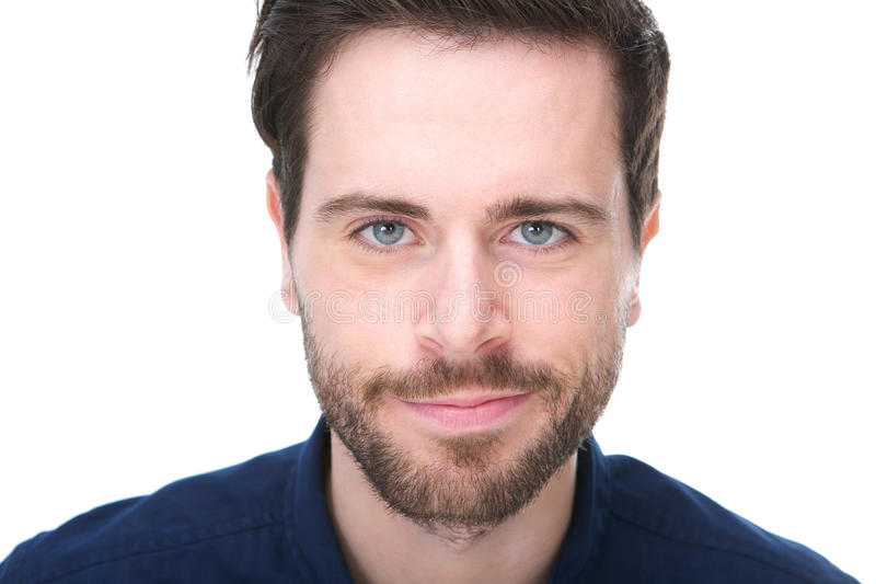 Ritratto di un giovane bello con sorridere della barba fotografie stock