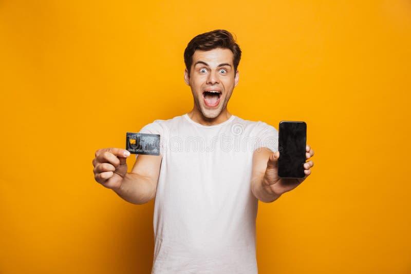 Ritratto di un giovane emozionante fotografia stock