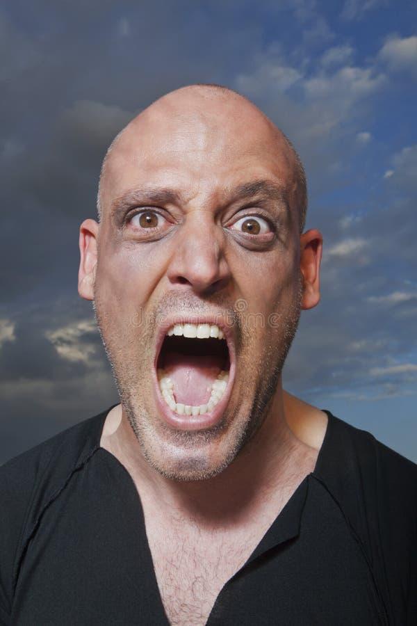 Ritratto Di Un Gridare Dell Uomo Immagine Stock Libera da Diritti