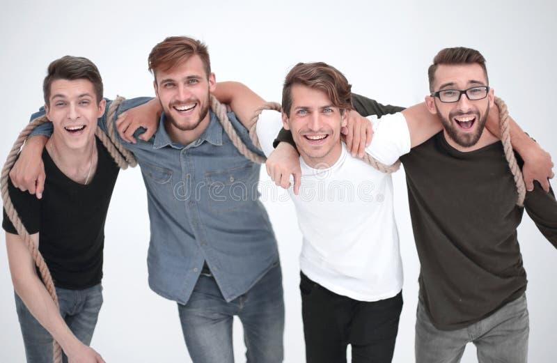 Ritratto di un gruppo di amici che stanno insieme fotografia stock