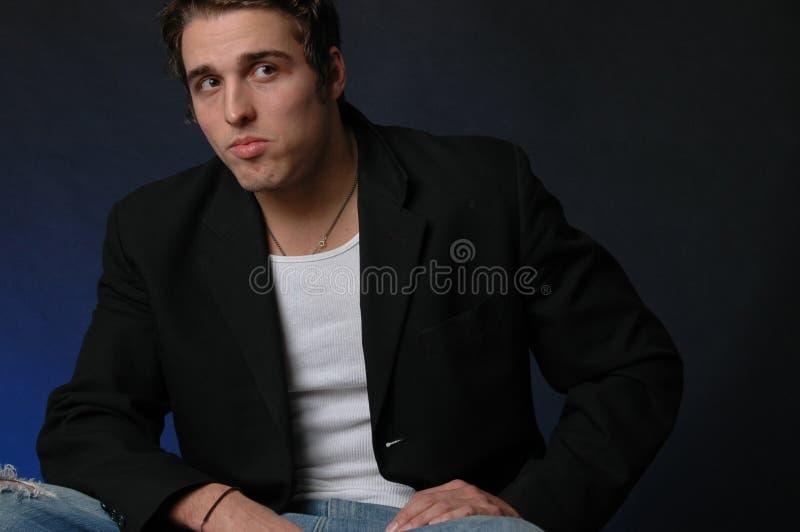 Ritratto di un maschio americano italiano fotografia stock