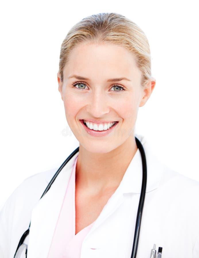 Ritratto di un medico femminile radiante fotografie stock