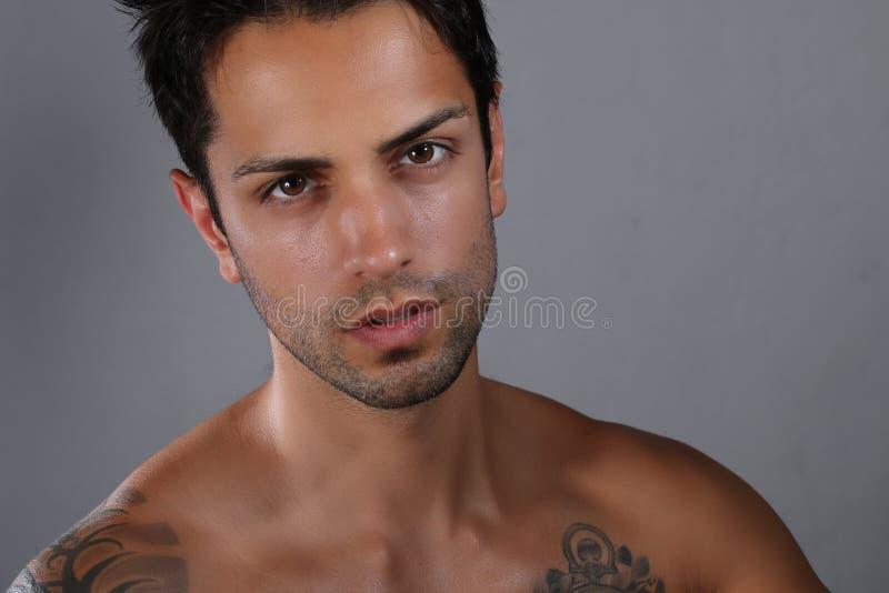 Ritratto di un modello maschio splendido fotografia stock