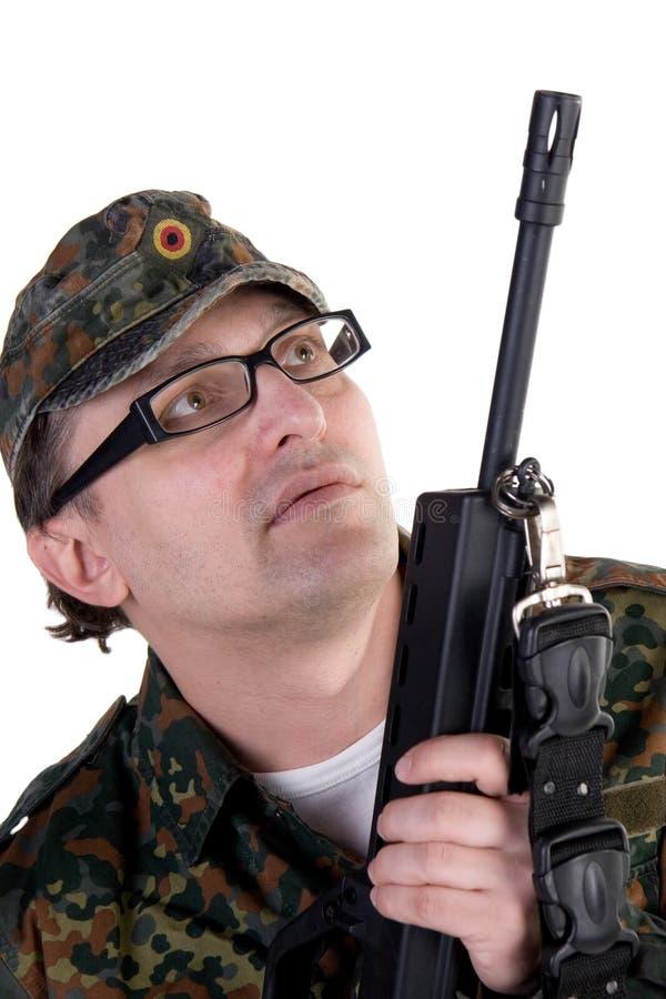 Ritratto di un soldato fotografie stock