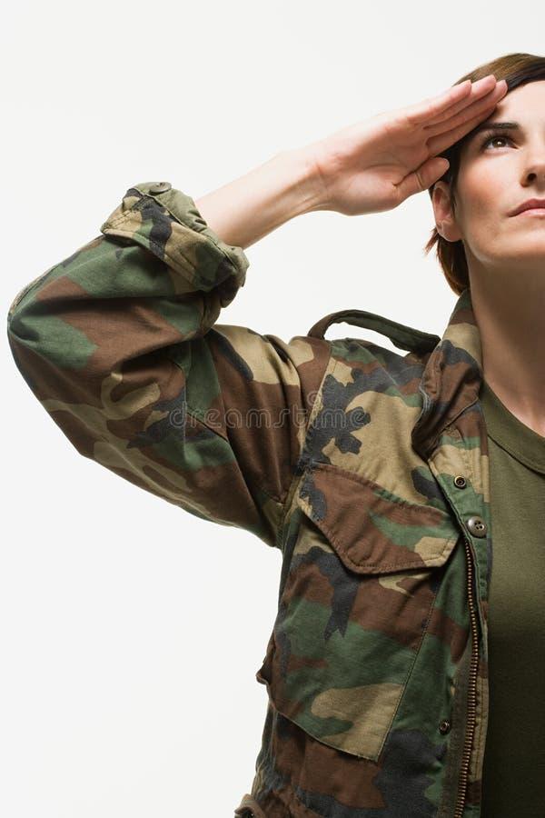 ritratto di un soldato della donna fotografia stock