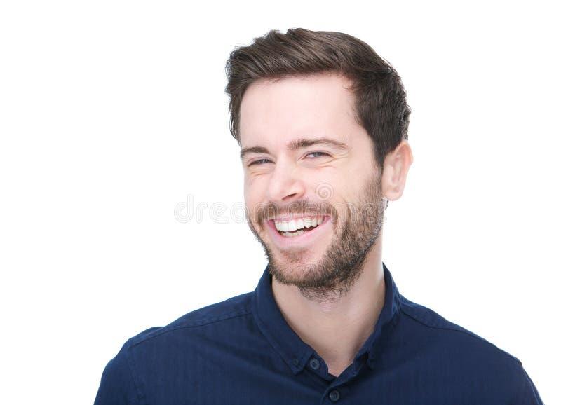 Ritratto di un sorridere allegro del giovane immagine stock