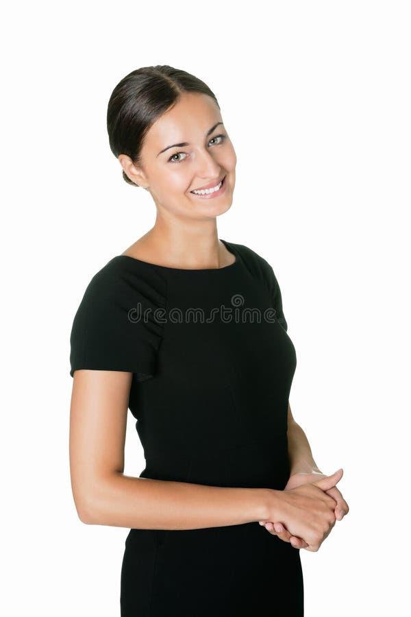 Ritratto di un sorridere attraente della giovane signora immagini stock libere da diritti