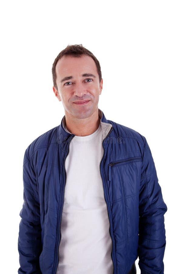 Ritratto di un sorridere bello dell'uomo di centrale-età fotografia stock libera da diritti