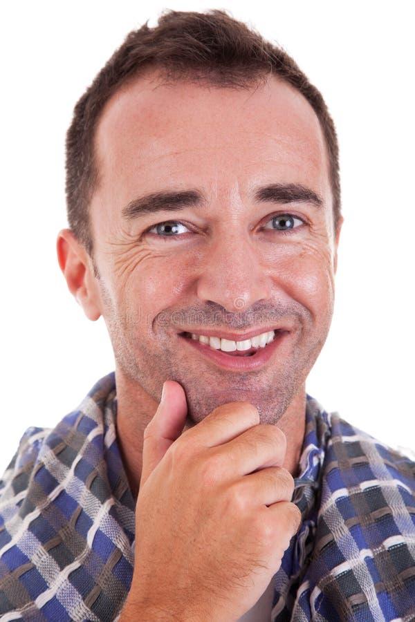 Ritratto di un sorridere bello dell'uomo di centrale-età fotografie stock