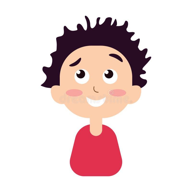 Ritratto di un sorridere felice del ragazzo royalty illustrazione gratis