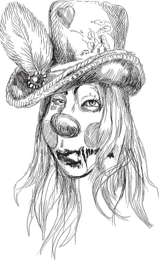 Ritratto di un undead 12 illustrazione vettoriale