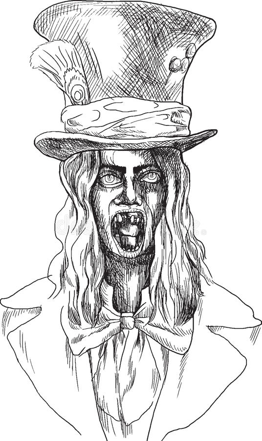 Ritratto di un undead 13 royalty illustrazione gratis