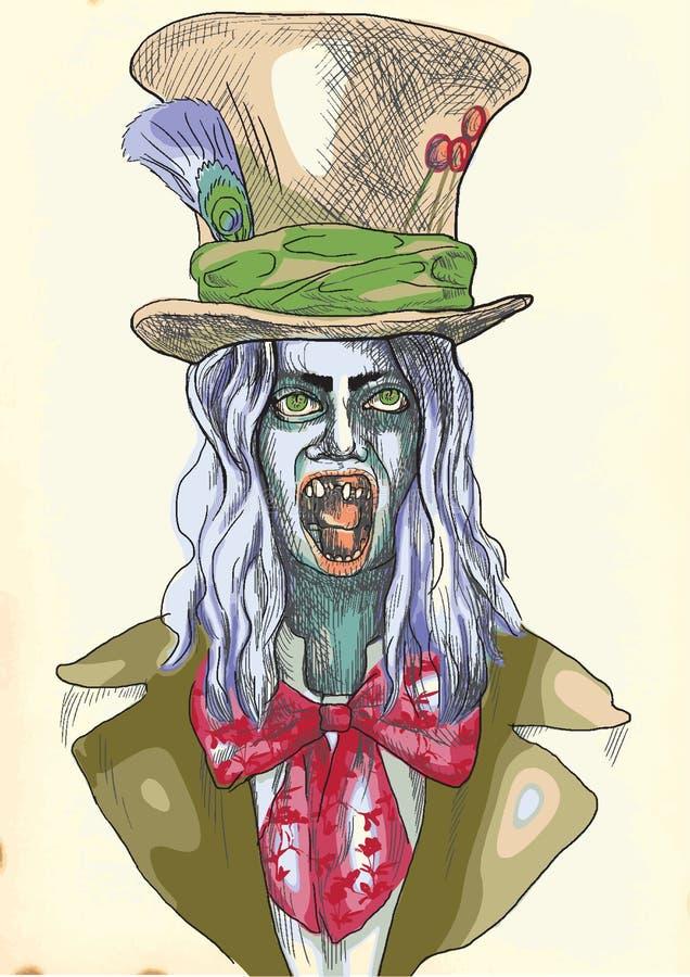 Ritratto di un undead 8 royalty illustrazione gratis