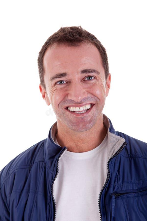 Ritratto di un uomo bello di centrale-età felice immagini stock libere da diritti
