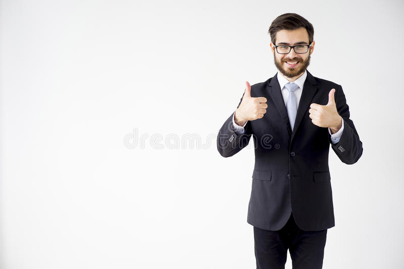 Ritratto di un uomo d'affari fotografia stock