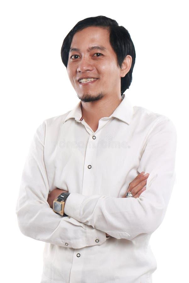 Ritratto di un uomo d'affari asiatico felice fotografie stock libere da diritti