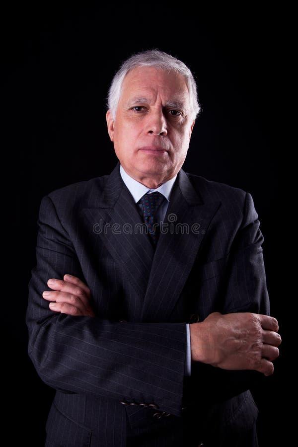 Ritratto di un uomo d'affari maturo bello, thinkin fotografia stock libera da diritti