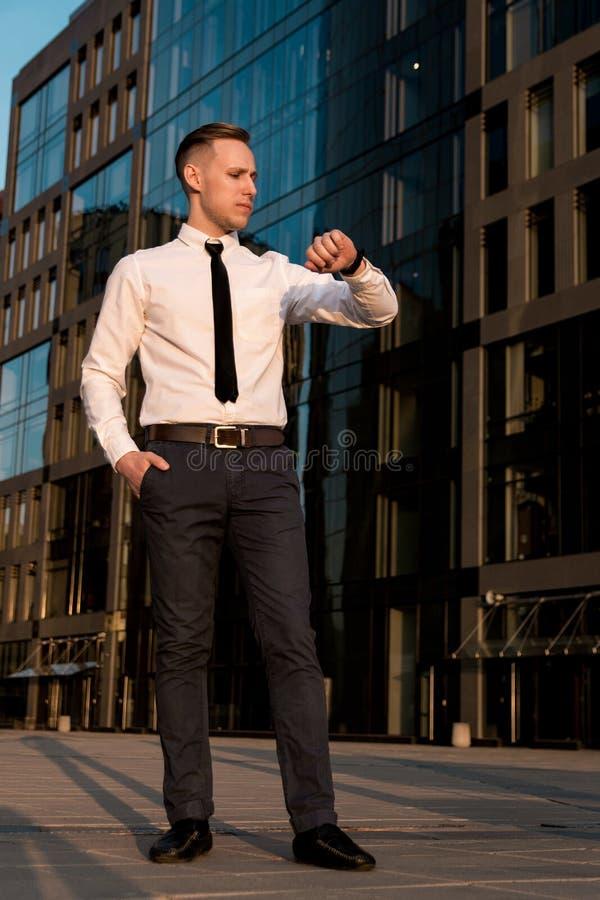 Ritratto di un uomo d'affari fotografia stock libera da diritti