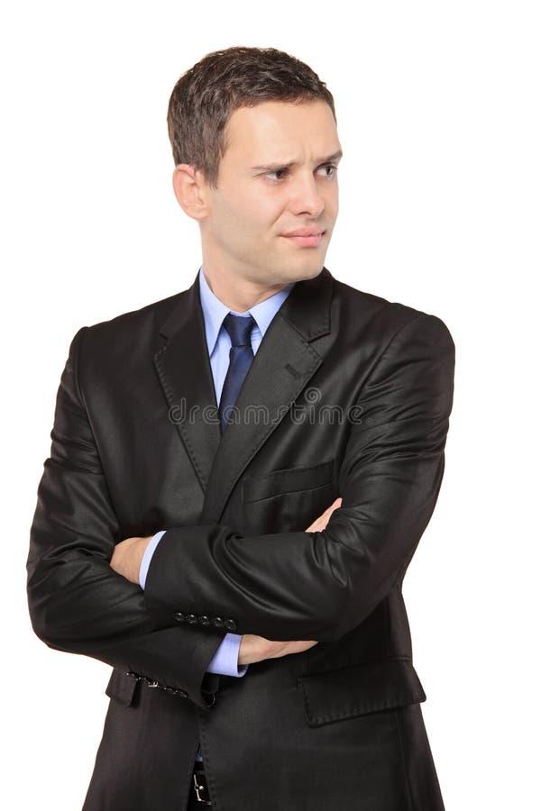 Ritratto di un uomo d'affari premuroso fotografie stock