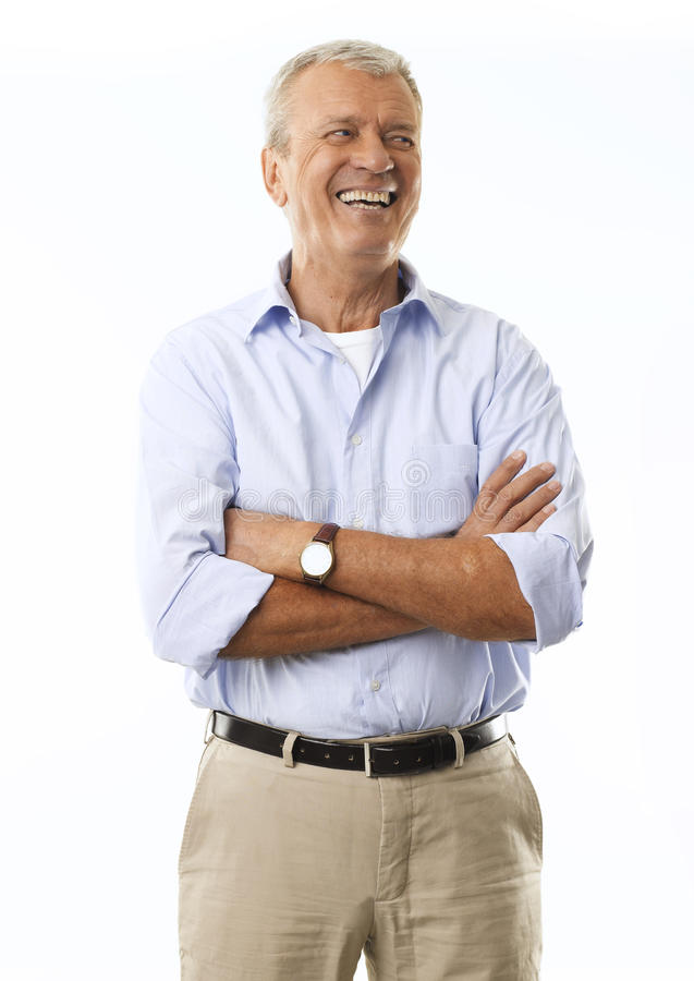 Ritratto di un uomo d'affari senior Smiling immagini stock