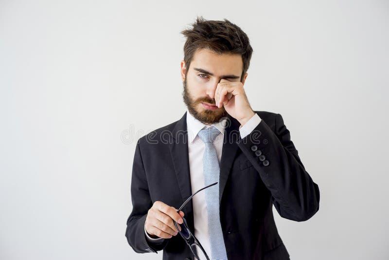 Ritratto di un uomo d'affari stanco immagine stock libera da diritti