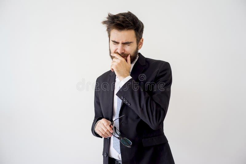 Ritratto di un uomo d'affari stanco immagini stock libere da diritti