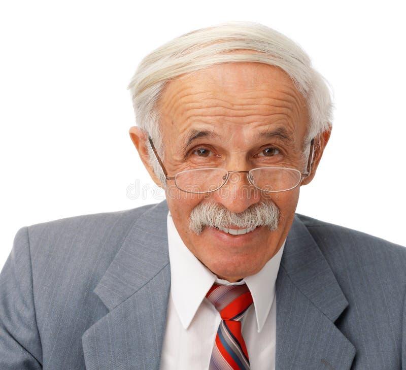 Ritratto di un uomo felice più anziano fotografie stock libere da diritti