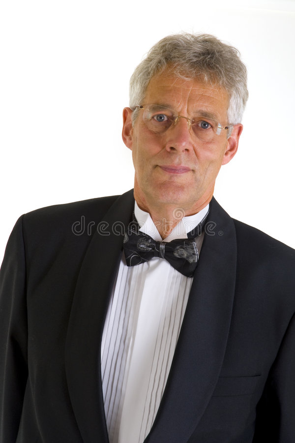 Ritratto di un uomo in smoking fotografie stock libere da diritti