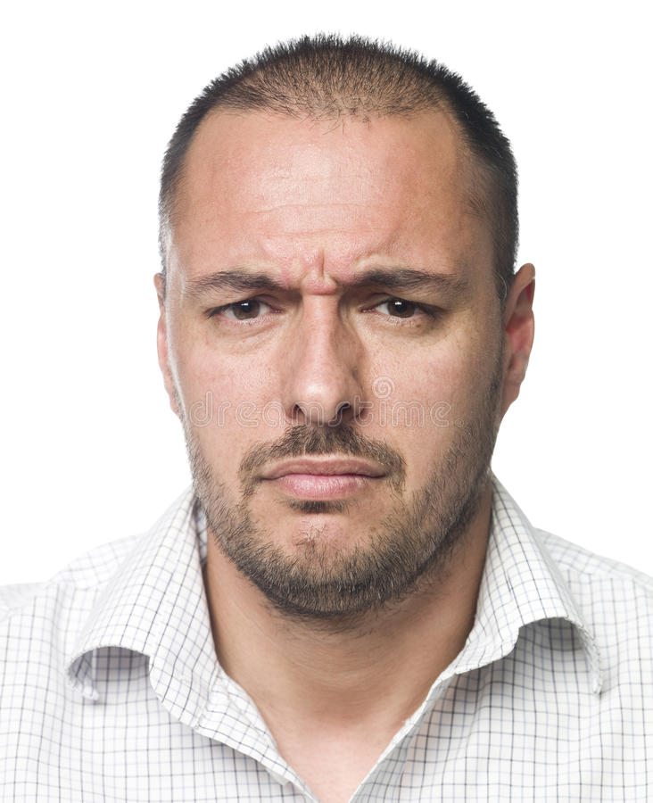 Ritratto di un uomo triste fotografie stock libere da diritti