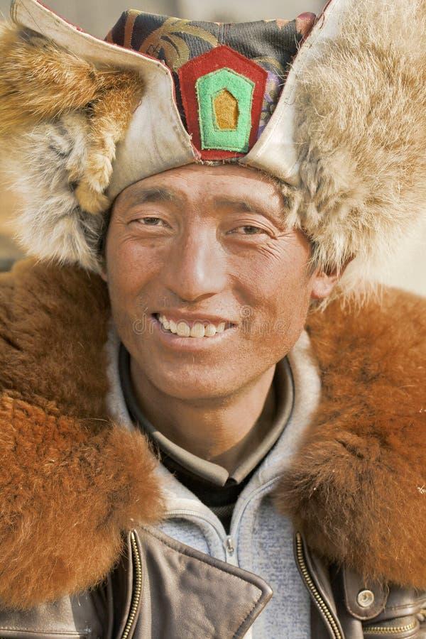Ritratto di un venditore ambulante tibetano, Pechino, Cina immagini stock libere da diritti