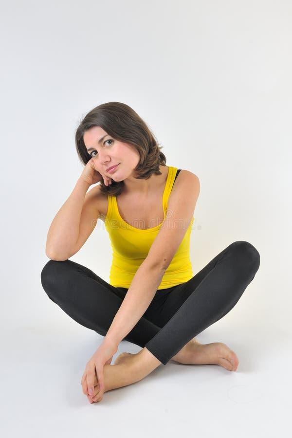 Ritratto di una donna abbastanza sportiva immagini stock