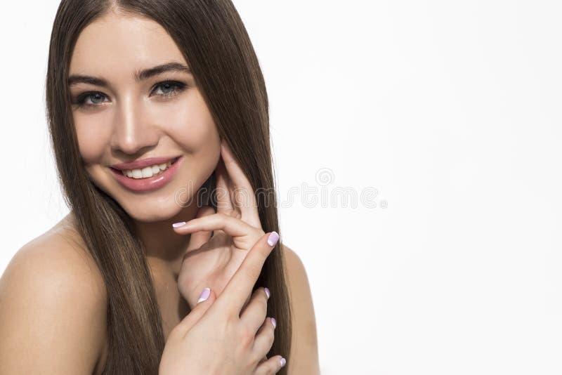 Ritratto di una donna dello smilng fotografia stock