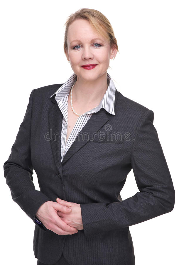 Ritratto di una donna di affari amichevole immagini stock libere da diritti