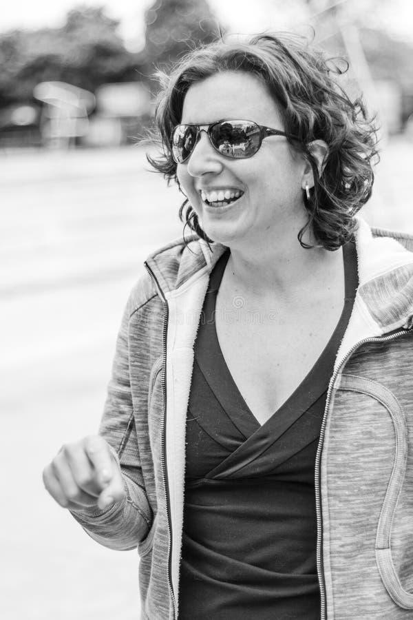 Ritratto di una donna Freediver prima della sfida immagine stock