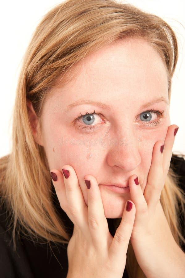 Ritratto di una donna gridante fotografie stock