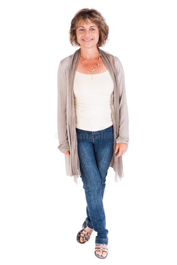 Ritratto di una donna maggiore sorridente fotografie stock libere da diritti