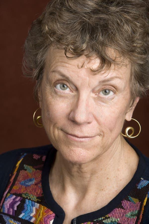 Ritratto di una donna senior fotografie stock