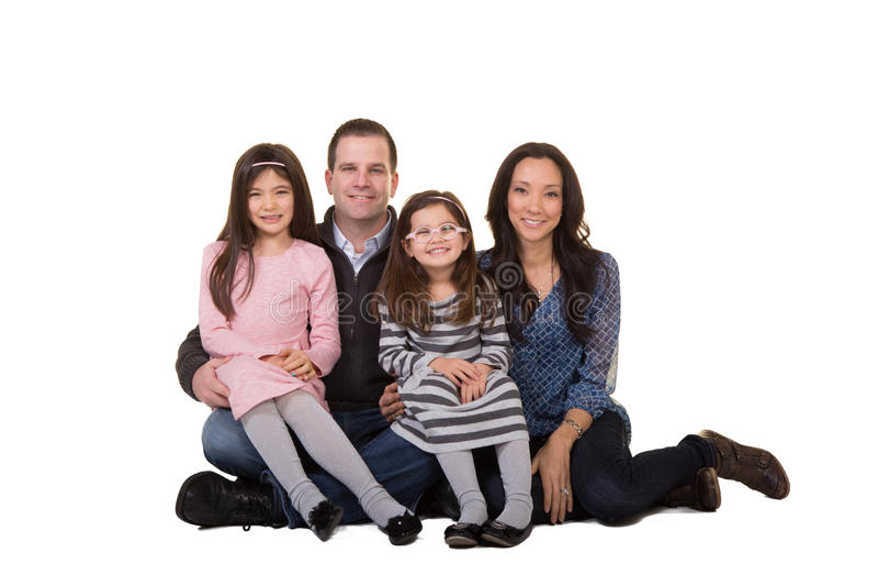 Ritratto di una famiglia fotografia stock