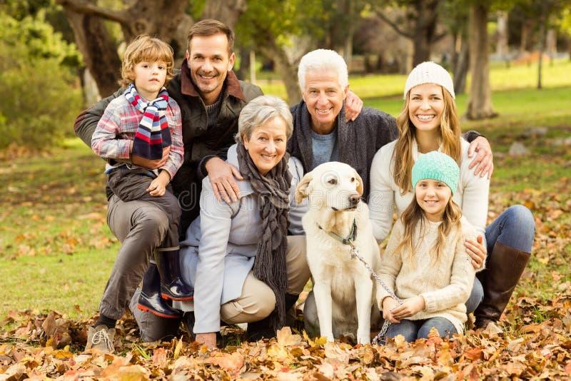 Ritratto di una famiglia allargata fotografia stock libera da diritti
