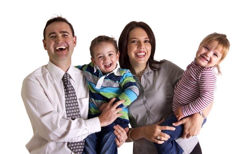Ritratto di una famiglia felice fotografia stock libera da diritti